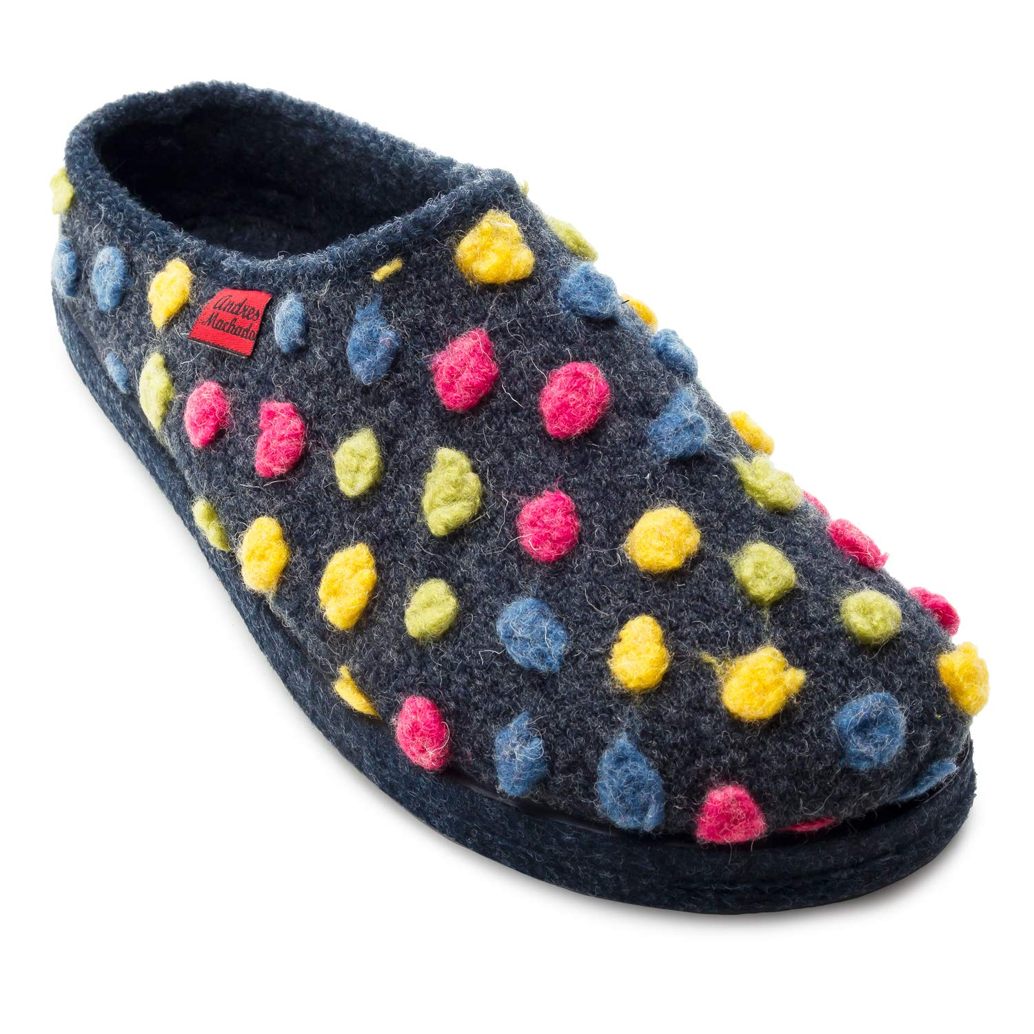 Andres Machado AM001 Comfortable Felt Slippers with Footbed Made in Spain Unisex Medium /& Big Sizes: UK 0.5 to 14 // EU 32 to 50 + Child UK 8 to 12 // EU 26 to 31 Small