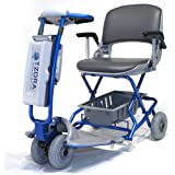 Lexis Light Folding Travel Scooter BLUE + Challenger Mobility Cover