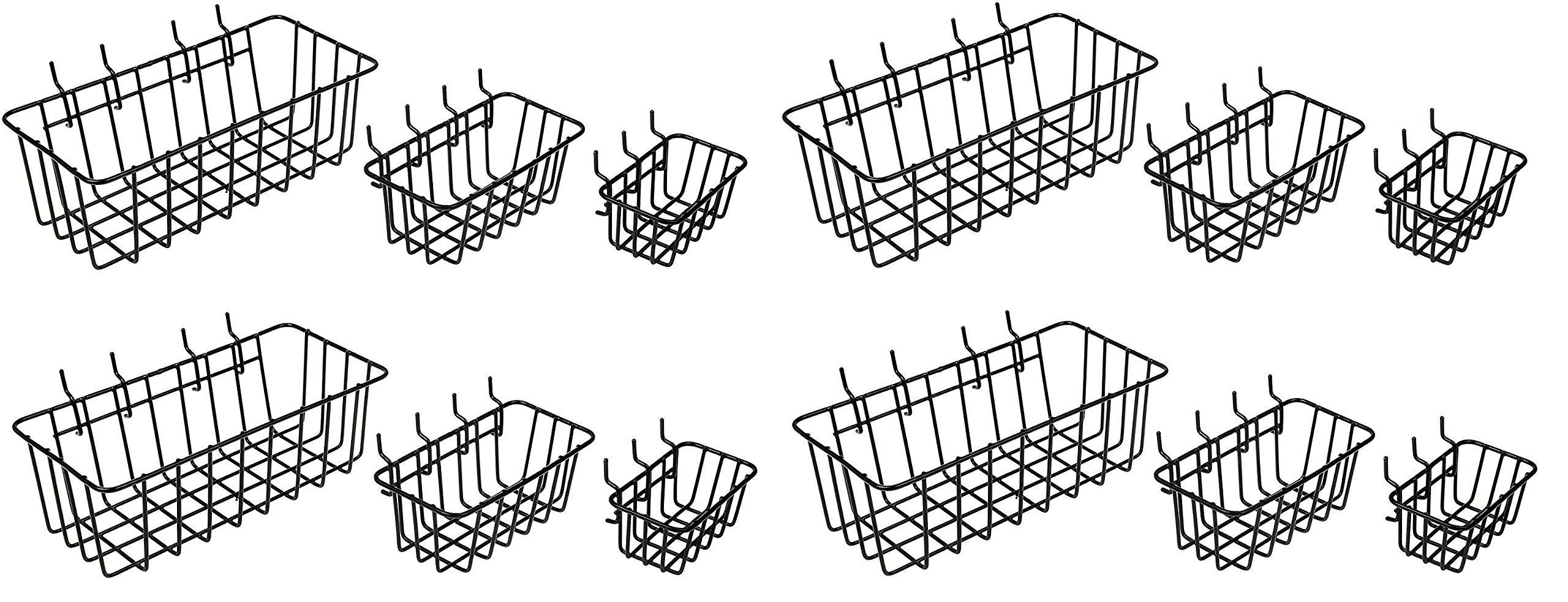 Dorman Hardware 4-9845 Peggable Wire Basket Set (4 X Pack of 3)