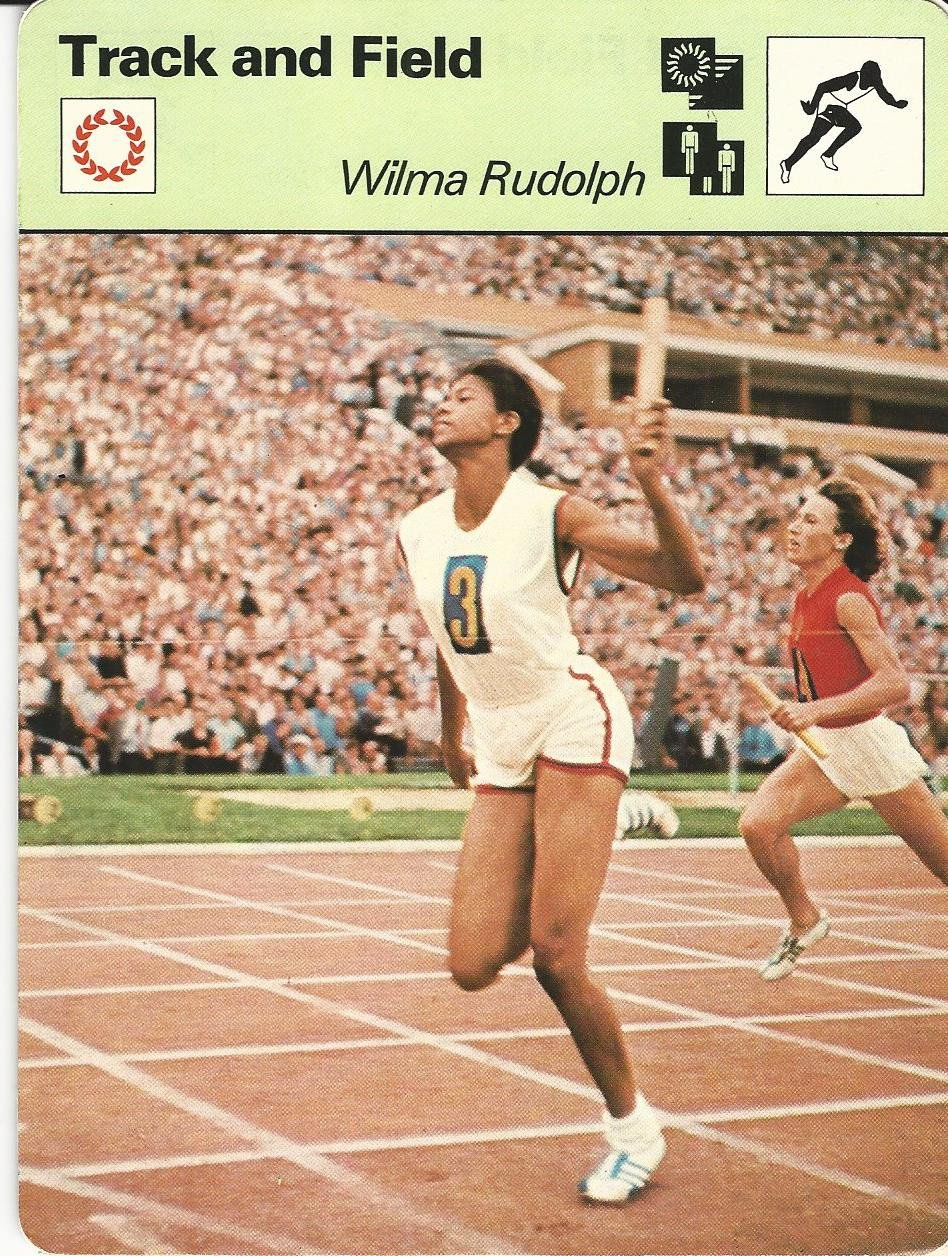 1977-79 Sportscaster Card, 18.02 Track, Wilma Rudolph, USA