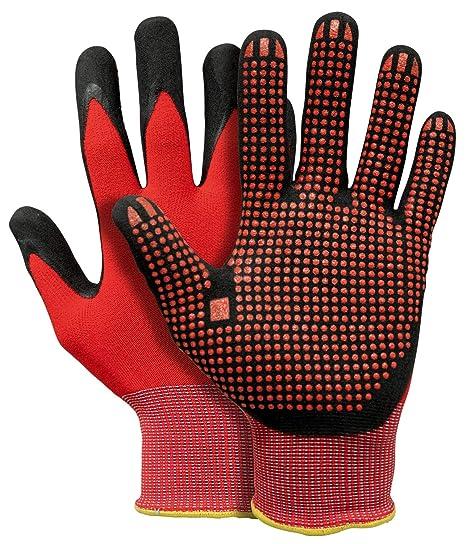 marktfähig niedriger Preis detaillierte Bilder Pfanner StretchFlex Fine Grip Arbeitshandschuhe (rot/schwarz)