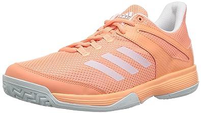 best sneakers 7bc0b 3ae4a adidas Girls Adizero Club K, Chalk CoralWhiteBlue Tint, 1
