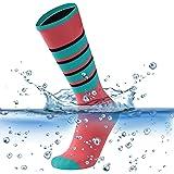 SuMade 20-30mmHg Compression 100% Waterproof Socks, Men Women Youth Breathable Hiking Running Cycling Skiing Socks