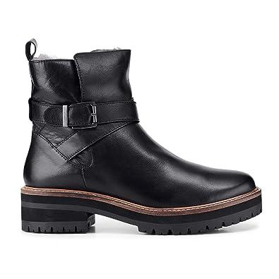 klassische Stile Dauerhafter Service speziell für Schuh Cox Damen Winter-Boots aus Leder, Stiefel in Schwarz mit ...