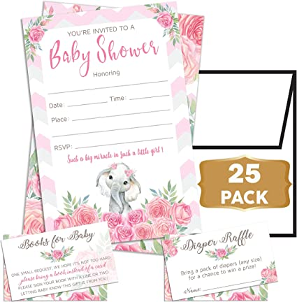 Baby Shower Invitation Cards with Envelopes Multiple Sets