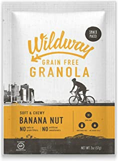 product image for Wildway Keto, Vegan Granola | Banana Nut | Certified Gluten Free Granola Snack Packs, Grain Free, Paleo, Non GMO, No Artificial Sweetener | 4 Pack
