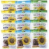 ELLA'S FLATS All Seed Savory Crisps – VARIETY PACK (1.5oz Snack Pack) – 12 PACK (4 Snack Packs each Original Sesame, Caraway, Hemp) – Gluten Free, Sugar Free, Grain Free, High Fiber, Low Carb, Vegan,
