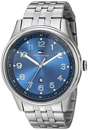 7390ee12 Tommy Hilfiger Men's Classic Stainless Steel Case Blue Dial Watch 1710308: Tommy  Hilfiger: Amazon.ca: Watches