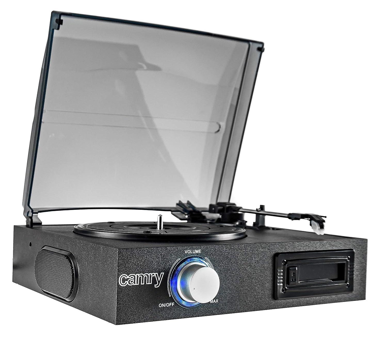 Camry CR1154 - Tocadiscos de Vinilo Vintage, Cassette, Altavoz Estereo