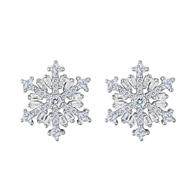 orecchini pandora fiocco di neve luccicante