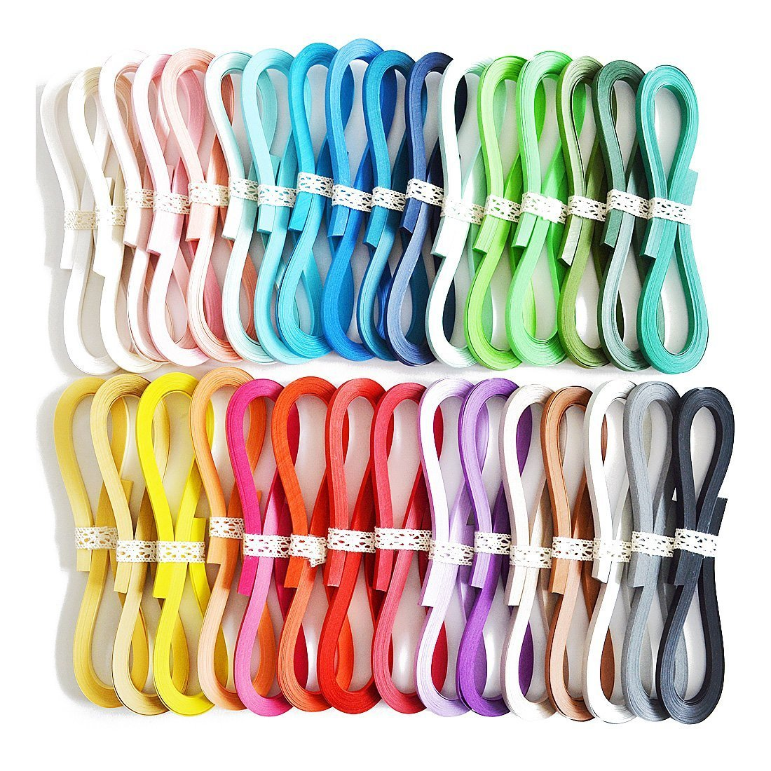 JUYA Tant Paper Quilling Set 1280 Strips 32 Colors 39cm Length/strips (Paper Width 3mm) QP390TP