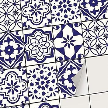Adhésif carrelage Autocollant Sticker Salle de Bain et Credence Cuisine -  Décoration mosaique autocollante I Stickers carrelage (20x25 cm I 12 - ...