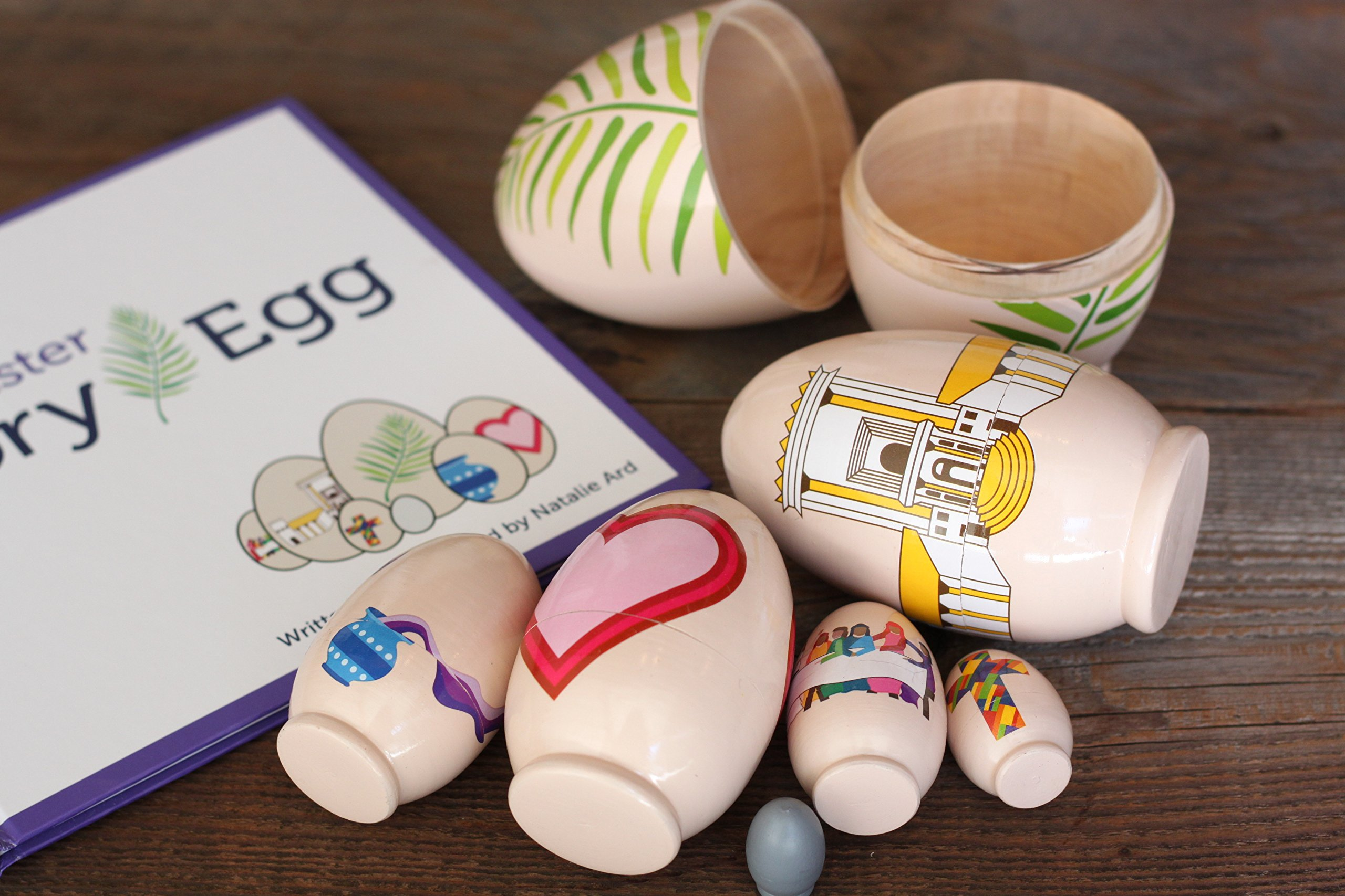 STORY EGG The Easter Colorful Nesting Toy with Resurrection Book – Great Christian or Catholic Gift for Children by STORY EGG (Image #5)