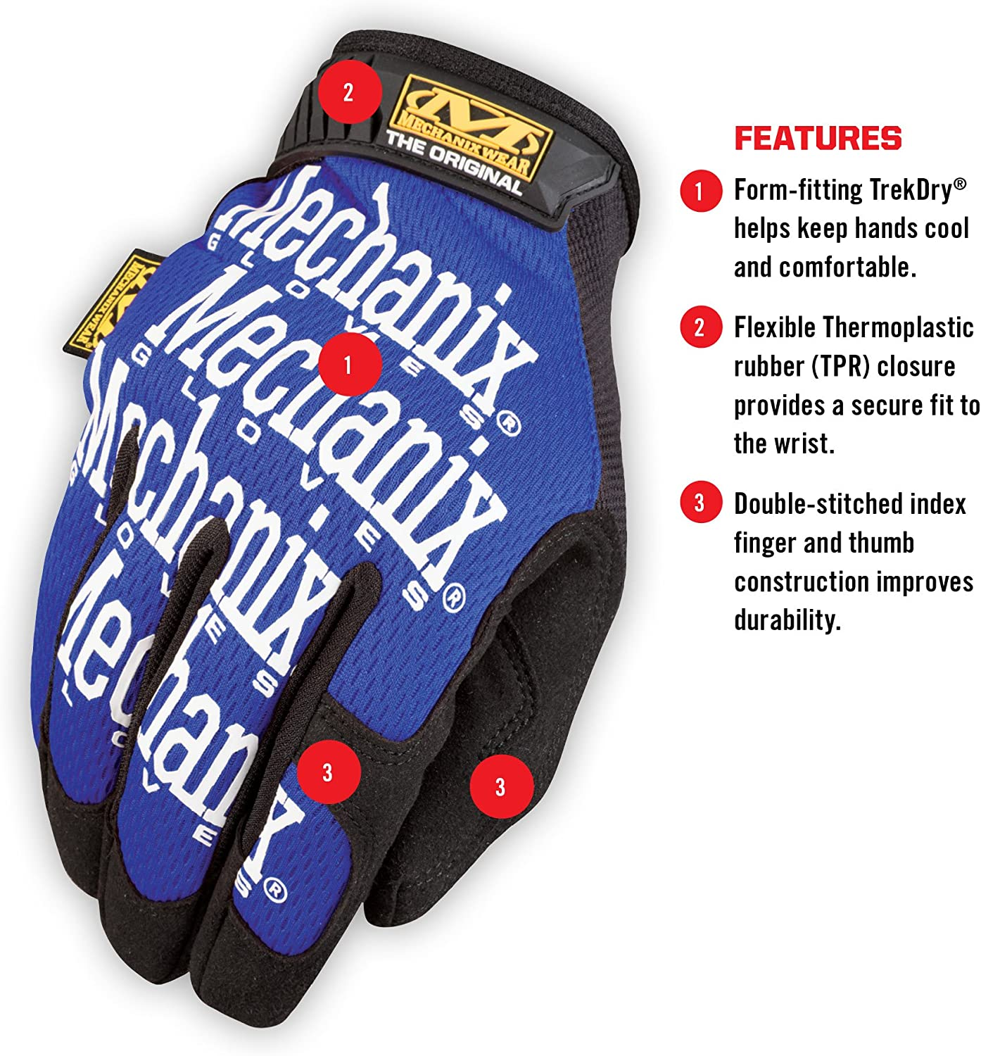 Blue Mechanix Wear MFF-03-010 Gloves L