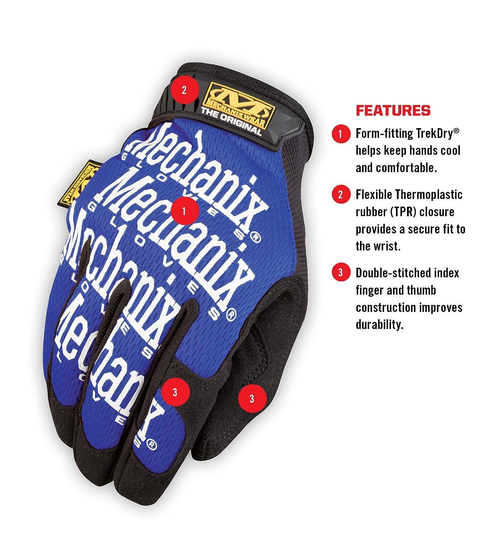 Original Work Gloves X-Large, Blue MG-03-011 MG-03-011;gloves;work gloves;mechanic gloves;mechanics gloves;mechanix gloves;mechanix original gloves;oil resistant gloves;mechanix wear Mechanix Wear