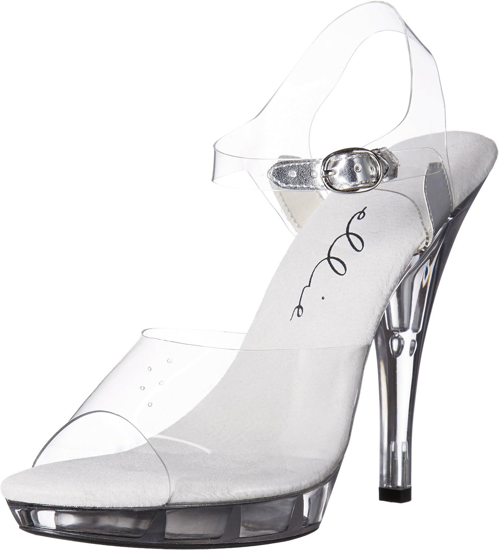 Ellie Shoes E-521-Brook-W 5 Heel Clear