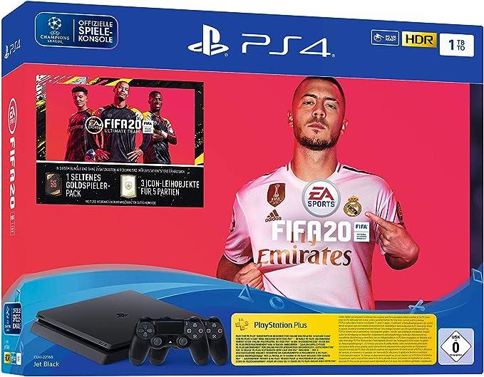 PlayStation 4 Slim - Konsole (1TB, schwarz) inkl. FIFA 20 + DualShock Controller [Importación alemana]: Amazon.es ...