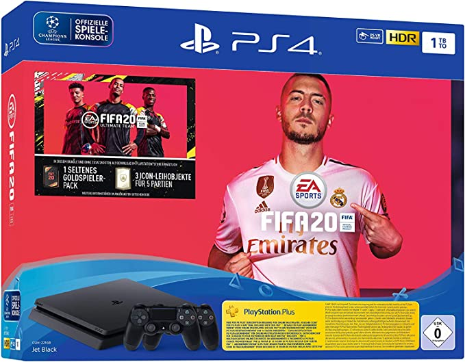 PlayStation 4 Slim - Konsole (1TB, schwarz) inkl. FIFA 20 + ...