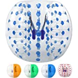 Tomasar Inflatable Bumper Ball Human Hamster Ball Knockerball Bubble Soccer Ball for Adults and Kids Dia 5ft/4ft (1.5m/1.2m)