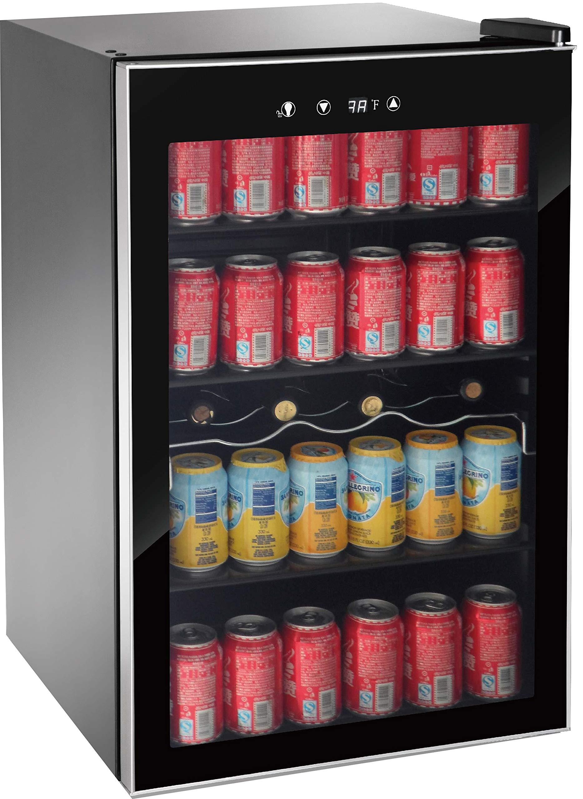 RCA wine cooler fridge beverage cooler (110 can or 36 bottles)