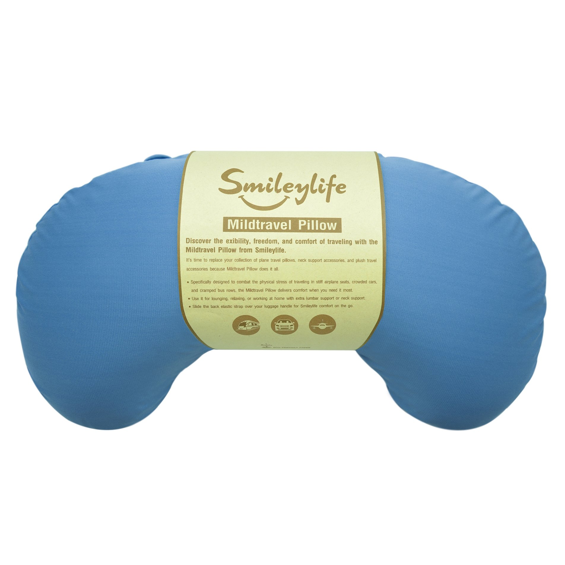 Neck Pillow - Best Accessories for Neck and Lumbar Support from Smileylife. Comfortable, Easy to Carry, Luggage Attaching, Hypoallergenic & Washable Cover. Let Travel Pillow Comfort You!