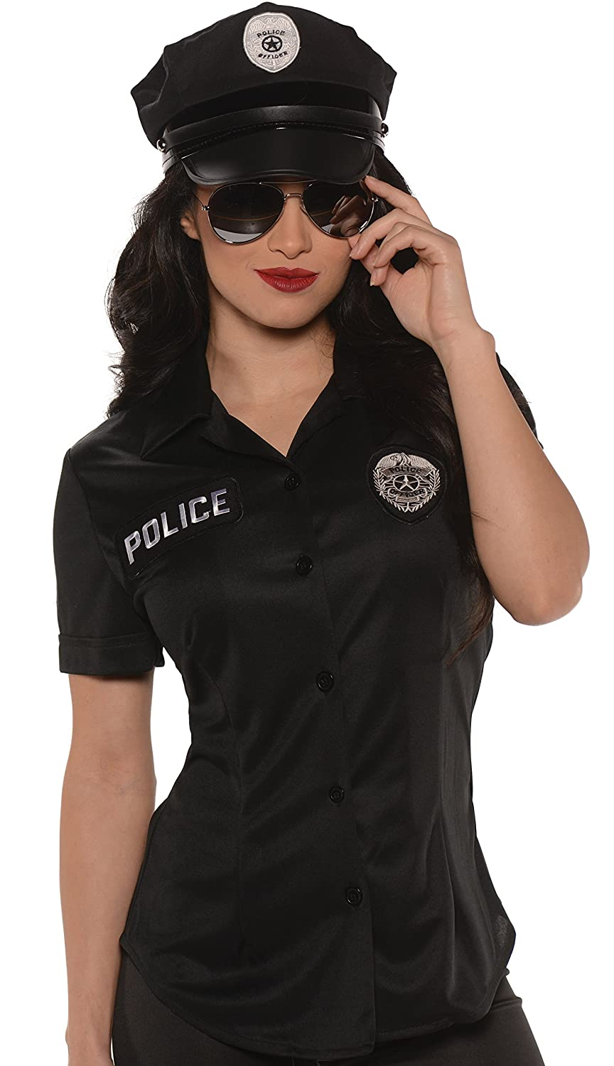 Underwraps Women's Police Fitted Shirt Underwraps Child code