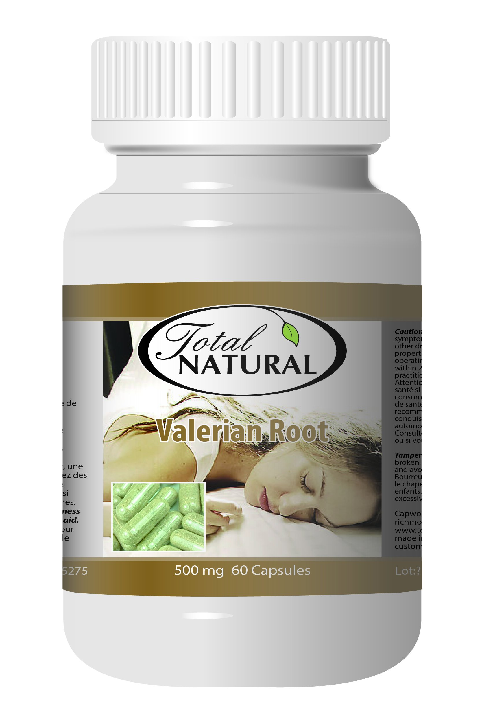 Valerian Root 500mg 60c - [12 bottles] Sleep Control