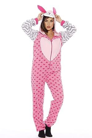 54bee7677c Amazon.com  Just Love Bunny Adult Onesie Pajamas  Clothing