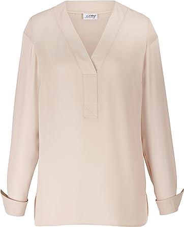 Amy Vermont - Camisas - para mujer beige 40: Amazon.es: Ropa ...