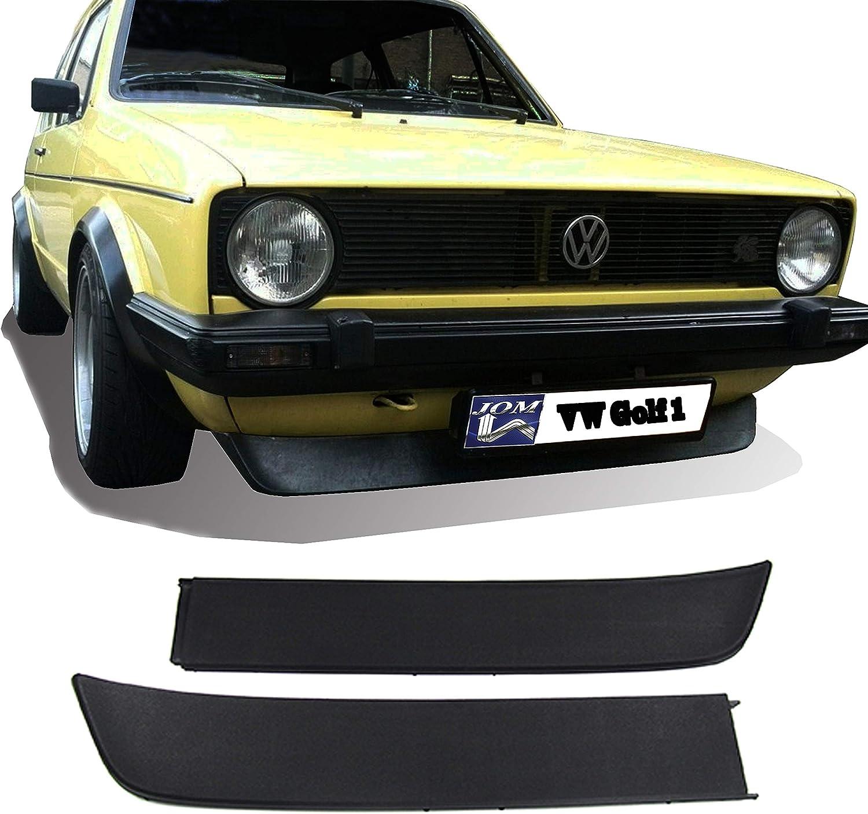 Premium Frontspoiler Spoiler unten vorne Lippe Spoilerlippe 2-teilig schwarz Kunststoff ABS