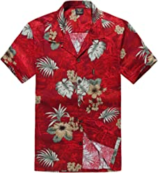 b37d9d74 Palm Wave Men's Hawaiian Shirt Aloha Shirt