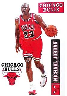 buy online f0483 eaf84 FATHEAD TEAMMATE Michael Jordan Chicago Bulls Logo Set Official NBA Vinyl  Wall Graphics 17