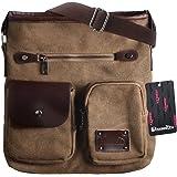 Zebella Casual Messenger Shoulder Bag for iPad Satchel Crossbody Canvas Bags