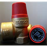 Soupape de sécurité à membrane pour installation de chauffage en circuit fermé 3 bar 50 kW max E 1/2 à A 3/4