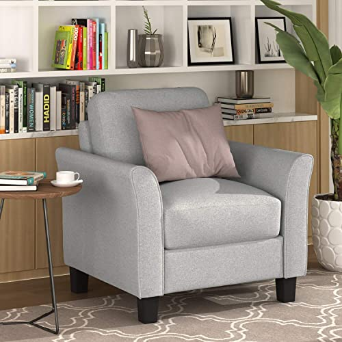 Harper Bright Designs Chair Loveseat 3-Seat Sofa Couch Living Room Furniture Sofa Sets 1-seat loveseat 3-seat, Light Gray