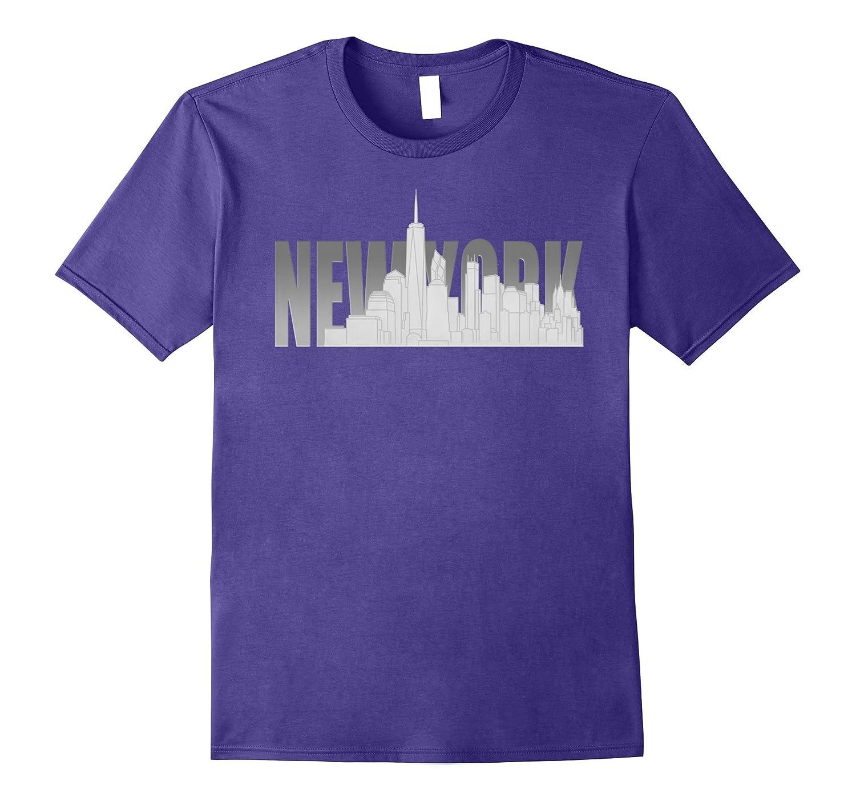 NYC New York City Skyline Souvenir Freedom Tower T-shirt-PL
