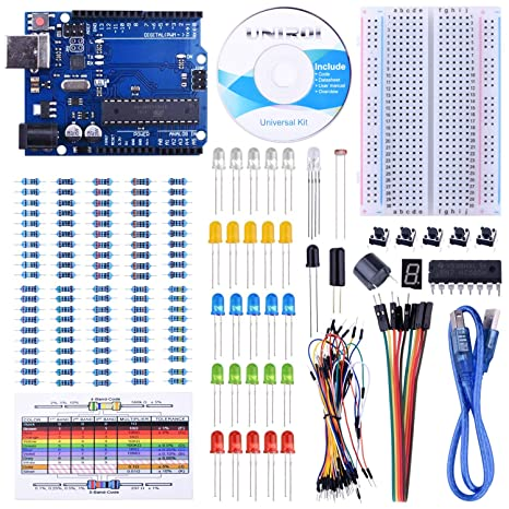 STARTO Starter Kit with Free Tutorials,1 Digit 7-Segment Display,Frame on