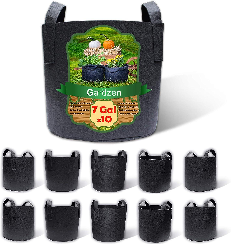 1//2//3//5//7 Gallon Black Fabric Pots Garden Plant Bag Pouch Pot Container YU