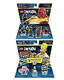 Lego Dimensions 2 Pack Bundle; Simpsons Level