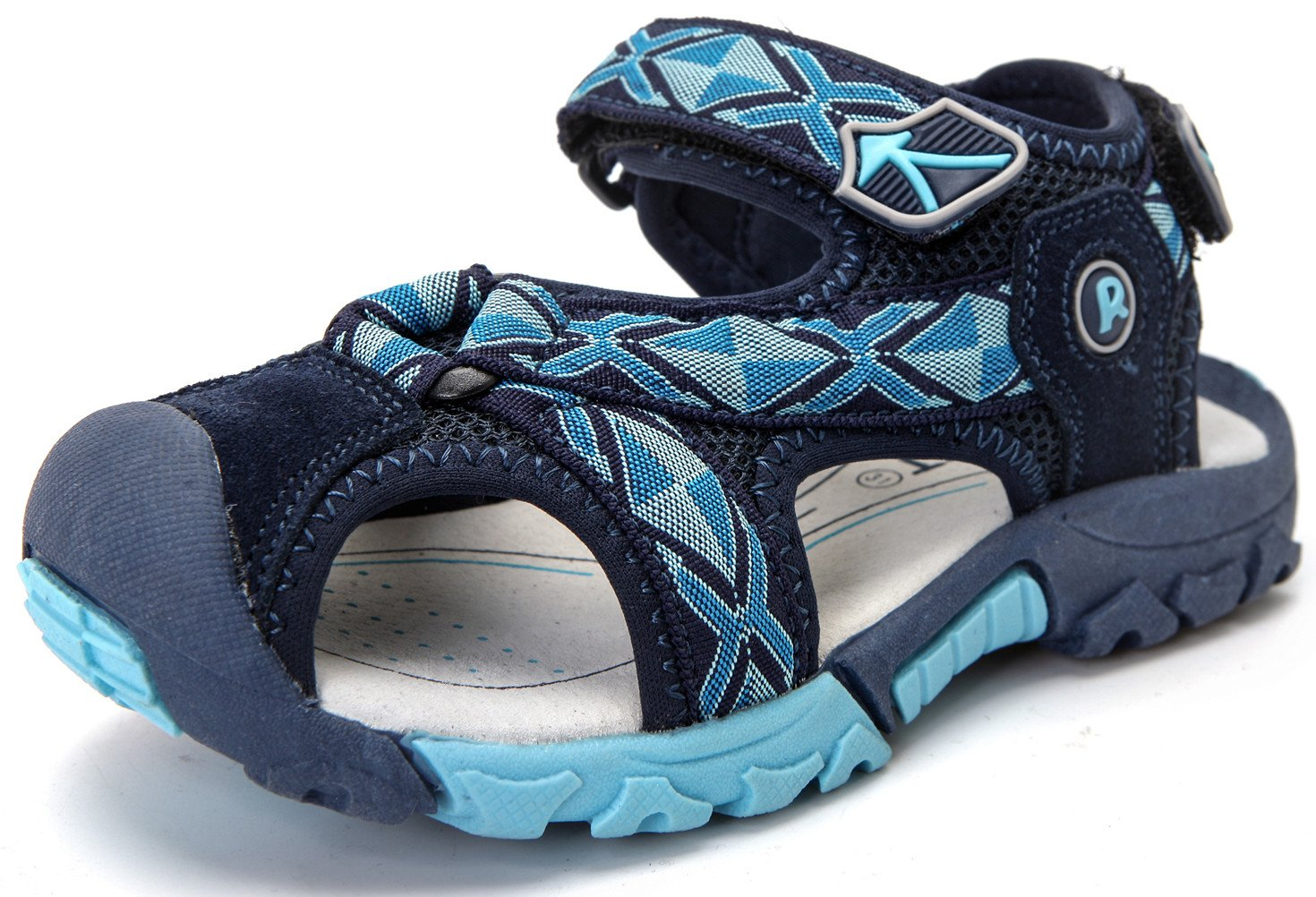 DADAWEN Summer Beach Outdoor Closed-Toe Sandals for Boys and Girls (Toddler/Little Kid/Big Kid) Dark Blue US Size 13 M Little Kid