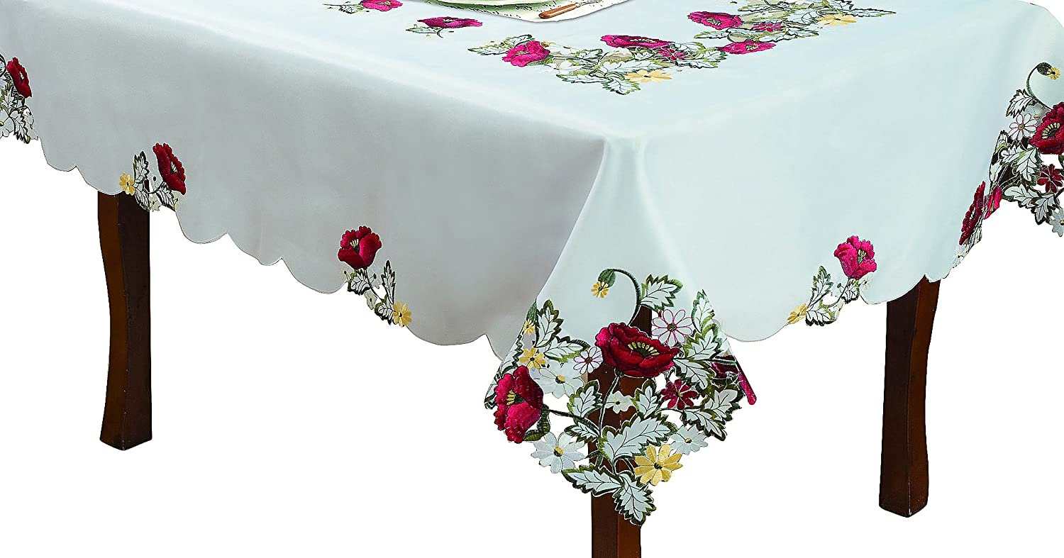 Editex Home Curtain Holiday Themed Tablecloth, 60 by 84-Inch, Kalanit