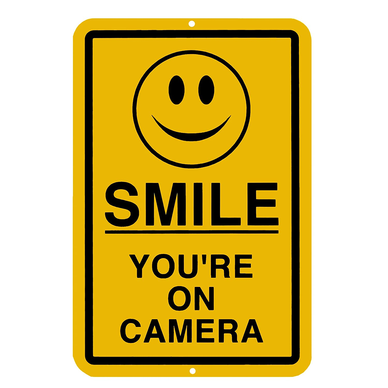 amazon com smile you u0027re on camera sign security waterproof