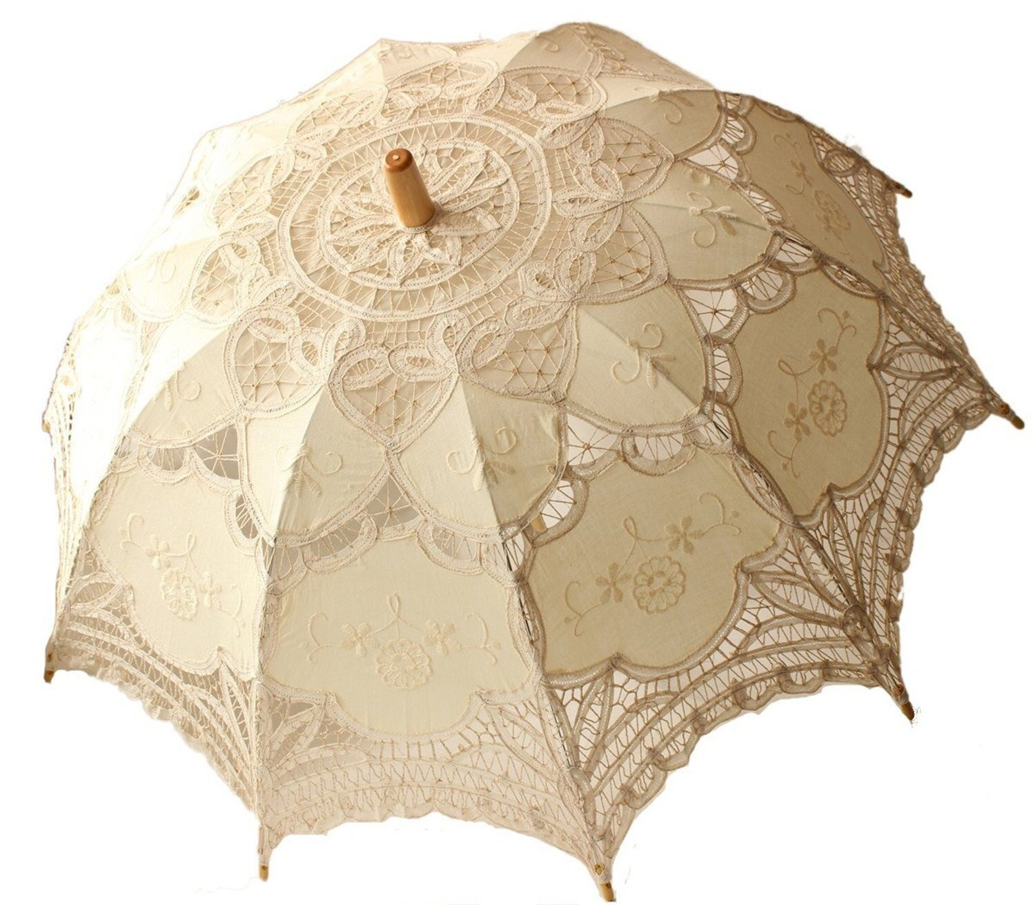 Tinksky Lace Umbrella Parasol Romantic Wedding Umbrella Photograph (Ivory)