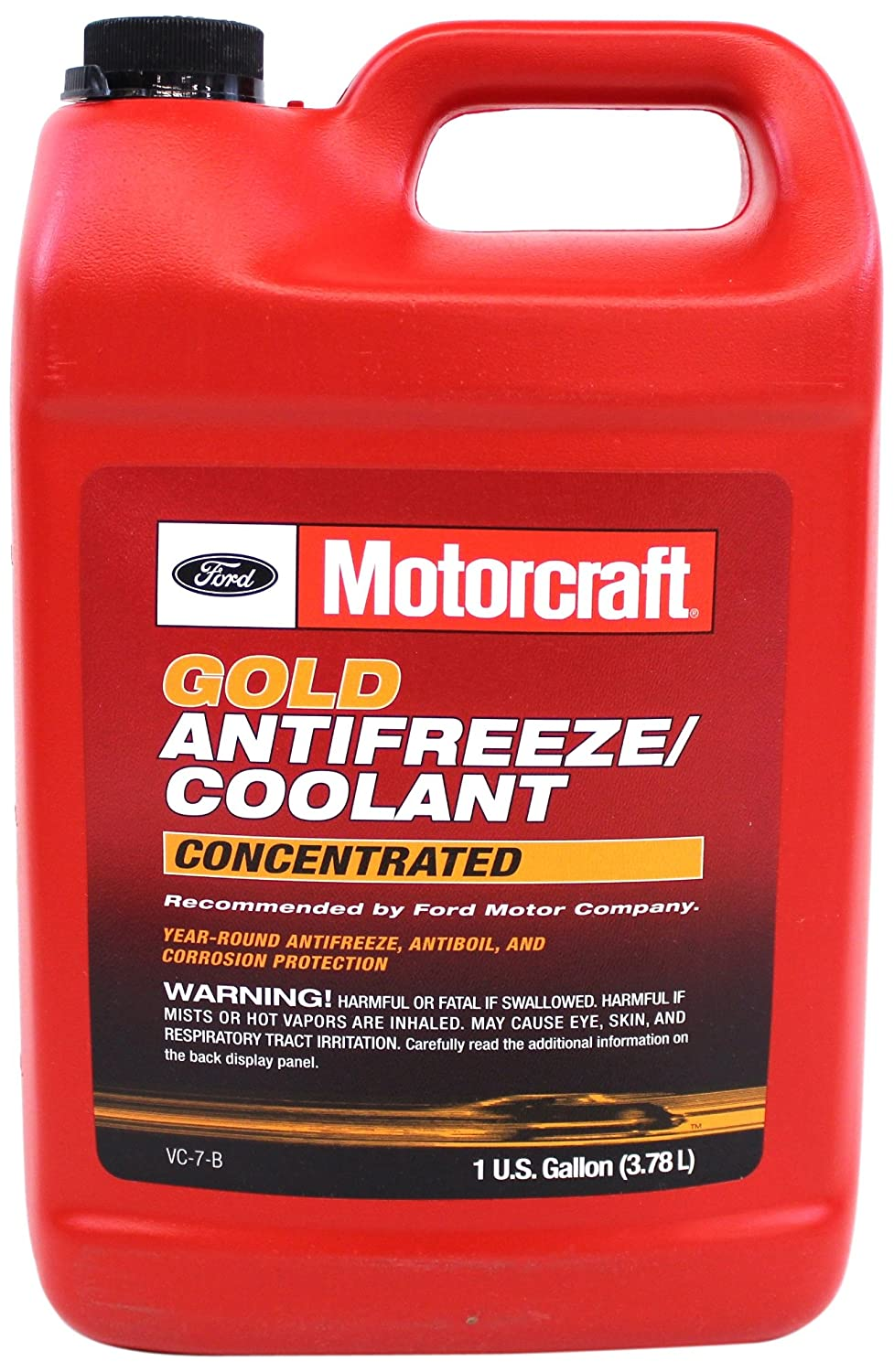 Amazon.com: Genuine Ford Fluid VC-7-B Gold Concentrated Antifreeze/Coolant  - 1 Gallon (Packaging may vary): Automotive