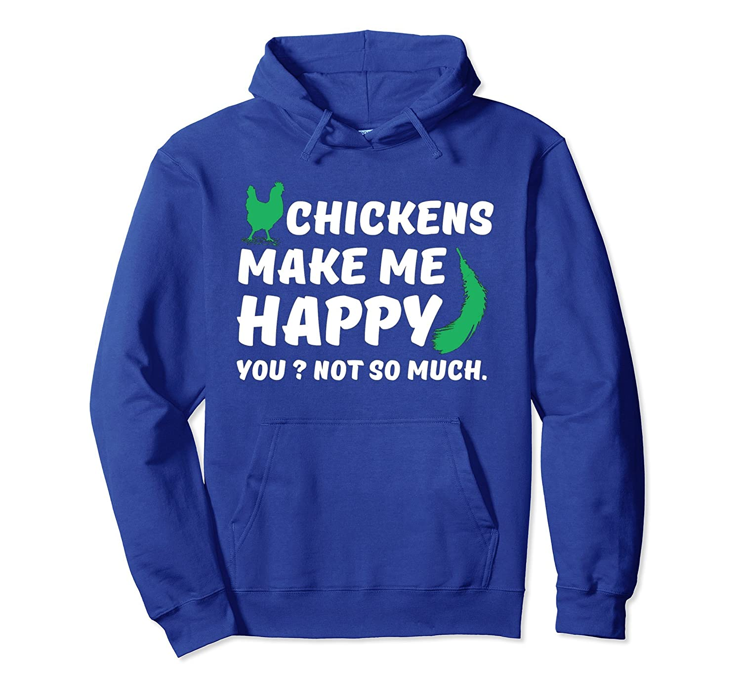 Chickens Makes Me Happy You Not So Much Long Sleeve Hoodie-AZP