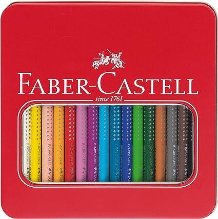 Faber Castell - Set de lápices de colores (en estuche metálico): Amazon.es: Oficina y papelería
