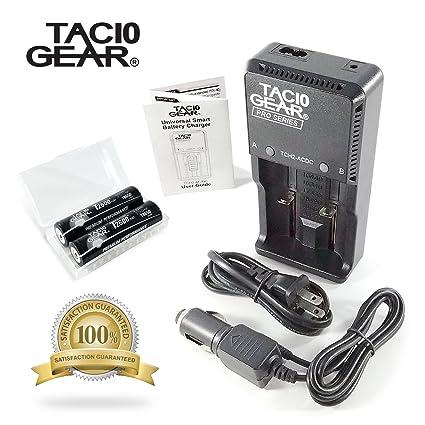 Amazon.com: tac10 Gear Batteries Plus AC/DC Digital Cargador ...