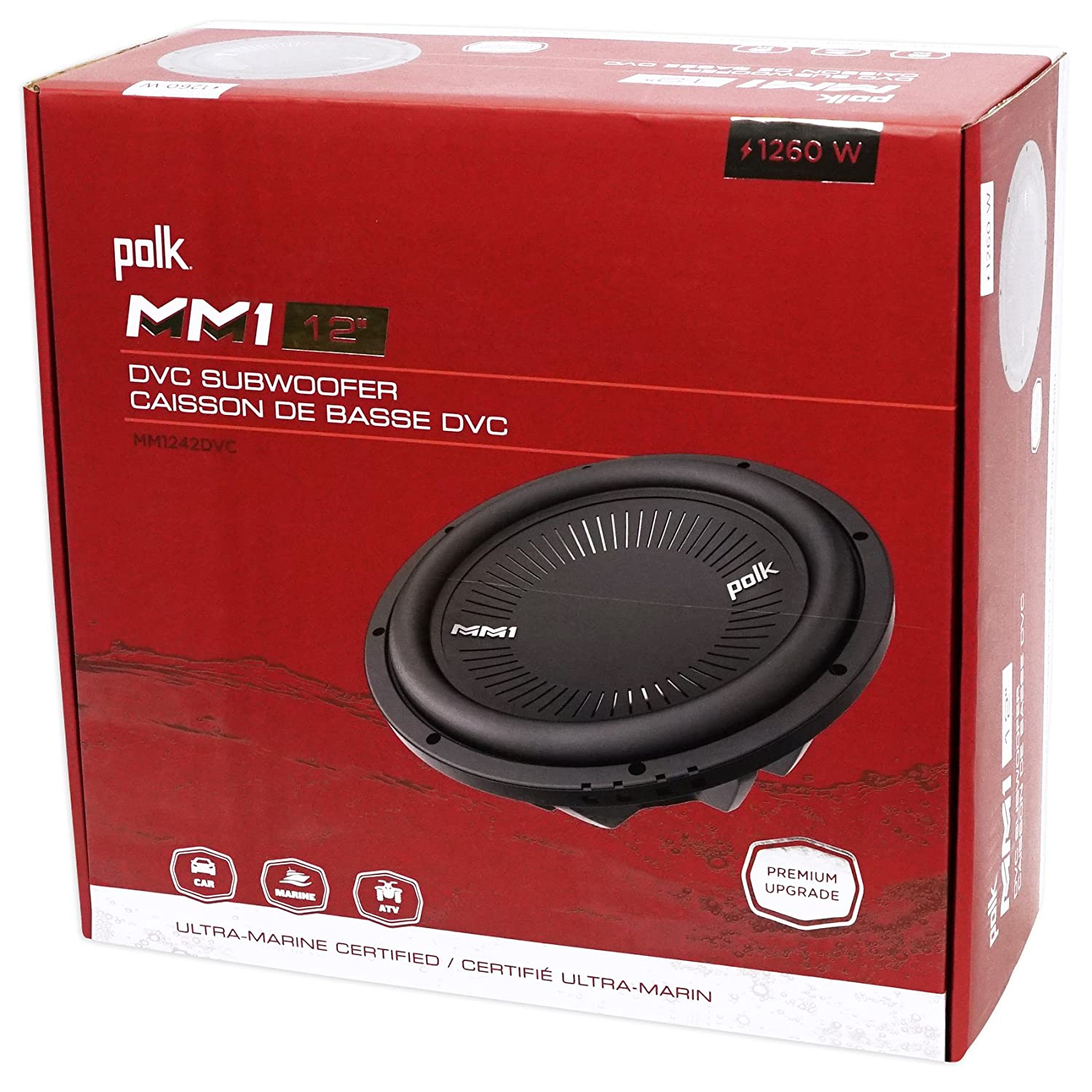 Polk Audio Mm 1242 Dvc 12 1260w Car Subwoofer Sub How To Wire 4 Ohm Dual Voice Coil Subs Kicker L7 Wiring Diagram Mono Amplifier Amp Kit Electronics