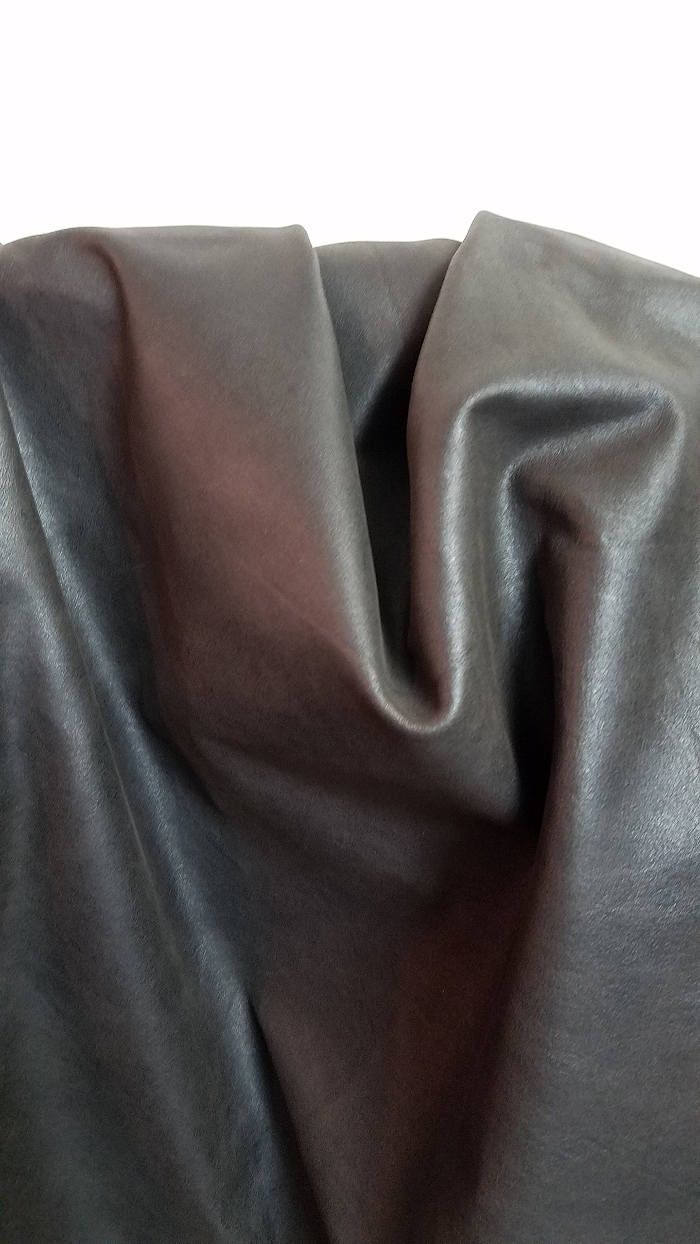 DARK BROWN CRAZY HORSE AVIATOR WAXY COW HIDE LEATHER SKINS 14-18 SQ.FT. 2.0-2.5 OZ. UPHOLSTERY GARMENT BOOKBINDING CHAP NAT Leathers (Brown) (14-18 sf)