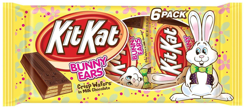 Amazoncom Kit Kat Easter Bunny Ear Bars Crisp Wafers In Milk